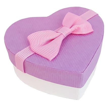 Cutie cadou inel inima lavanda 7x6x3cm
