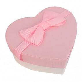 Cutie cadou inel inima roz 7x6x3cm