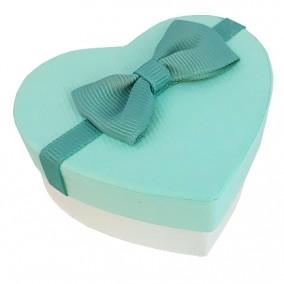 Cutie cadou inel inima turcoaz 7x6x3cm