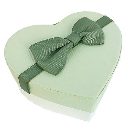 Cutie cadou inel inima verde kaki 7x6x3cm