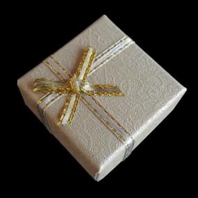 Cutie cadou inel pastel gri 4x4x2.5cm