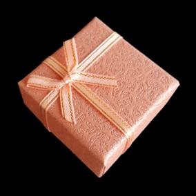 Cutie cadou inel pastel roz 4x4x2.5cm