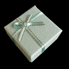 Cutie cadou inel pastel vernil 4x4x2.5cm
