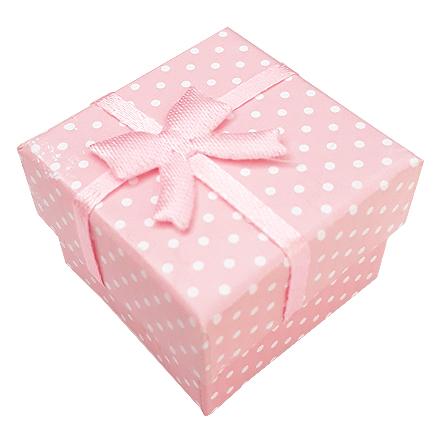 Cutie cadou inel roz buline 4x4x3cm