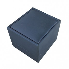 Cutie cadou inel satin albastru 6x6x5cm