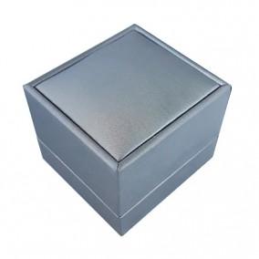 Cutie cadou inel satin argintiu 6x6x5cm
