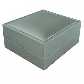 Cutie cadou pandantiv satin argintiu 8x7x4cm