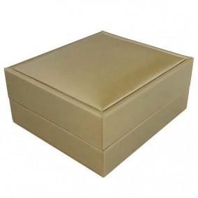 Cutie cadou pandantiv satin auriu 8x7x4cm