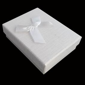 Cutie cadou set bijuterii alba 9x7x3cm