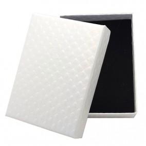 Cutie cadou set bijuterii alba carton lucios 9.5x7x2.5cm