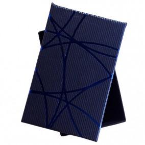 Cutie cadou set bijuterii albastra dungi albastre 8x5x2.5cm