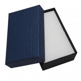 Cutie cadou set bijuterii albastru mat 8x5x2,5cm