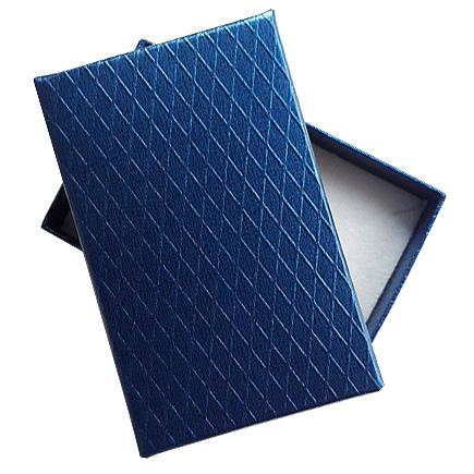 Cutie cadou set bijuterii albastru sidef 8x5x2.5cm