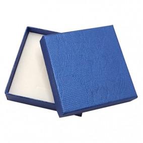 Cutie cadou set bijuterii albastru sidef 9x9x2.5cm