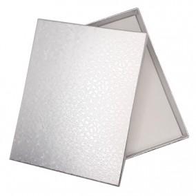 Cutie cadou set bijuterii argintiu marmorat 16x12x3cm