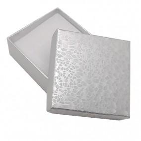 Cutie cadou set bijuterii argintiu marmorat 6x6x2,5cm