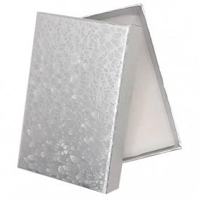 Cutie cadou set bijuterii argintiu marmorat 8x5x2,5cm