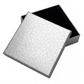 Cutie cadou set bijuterii argintiu marmorat 9x9x2,5cm