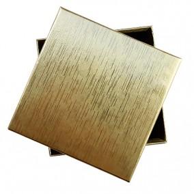 Cutie cadou set bijuterii aurie 9x9x2.5cm