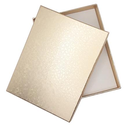 Cutie cadou set bijuterii auriu marmorat 16x12x3cm