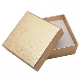 Cutie cadou set bijuterii auriu marmorat 6x6x2,5cm