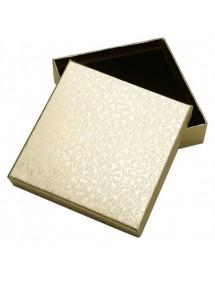 Cutie cadou set bijuterii auriu marmorat 9x9x2,5cm