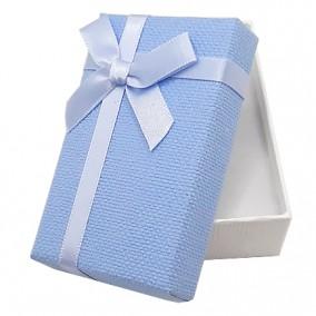 Cutie cadou set bijuterii bicolor alb bleu 8x5x3cm