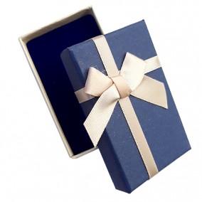 Cutie cadou set bijuterii bicolor ivoire navy 8x5x3cm