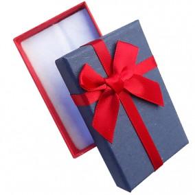 Cutie cadou set bijuterii bicolor rosu navy 8x5x3cm