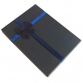 Cutie cadou set bijuterii bleumarin 16x12x3cm