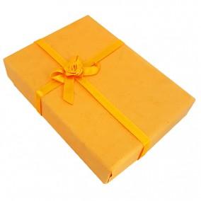 Cutie cadou set bijuterii carton galben 12x8x3cm