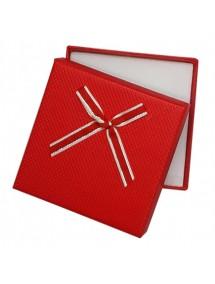 Cutie cadou set bijuterii carton rosu 9x9x2,5cm
