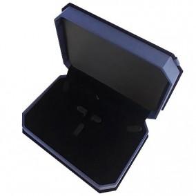 Cutie cadou set bijuterii catifea albastra 18x13x4cm