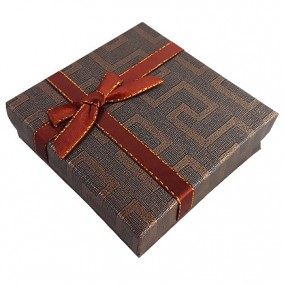 Cutie cadou set bijuterii labirint bronz 9x9x3cm