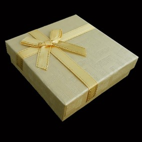 Cutie cadou set bijuterii labirint ivoire 9x9x3cm