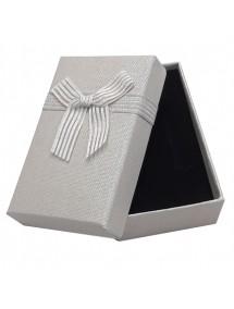 Cutie cadou set bijuterii panza sac gri 8x5x2,5cm