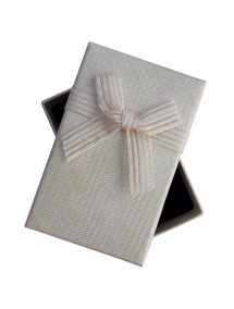 Cutie cadou set bijuterii panza sac natur 8x5x2.5cm