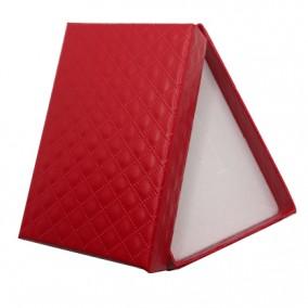 Cutie set bijuterii carton lucios rosu 8x5x2.5cm