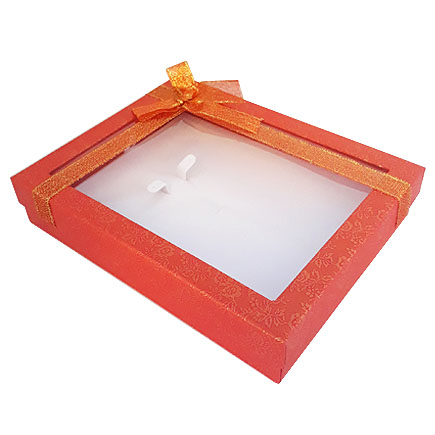 Cutie set bijuterii rosie capac fereastra 20x15x4cm