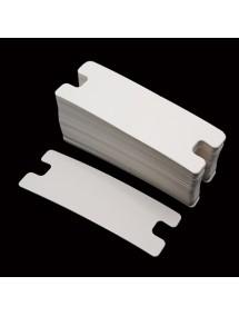 Etichete carton alb drepte expunere bratara 10x3,5cm 200buc