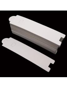 Etichete carton alb drepte expunere bratara 13x3cm 100buc