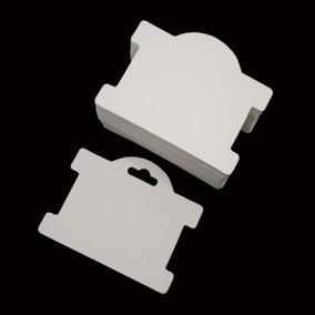 Etichete carton alb drepte expunere bratara 9,5x7,5cm 100buc