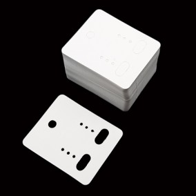 Etichete carton alb drepte expunere cercei 5x4cm 100buc