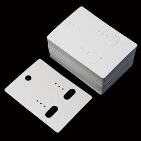 Etichete carton alb drepte expunere cercei 6,5x5cm 100buc