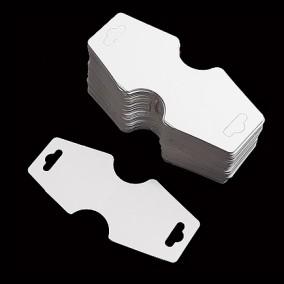 Etichete carton alb expunere bratara 10x4cm 200buc