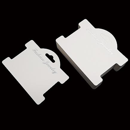 Etichete carton alb expunere bratara 10x8cm 100buc