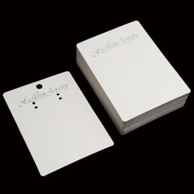 Etichete carton alb expunere set bijuterii 11x8cm 100buc