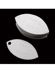 Etichete carton alb ovale expunere cercei 7x3,5cm 100buc