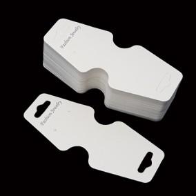 Etichete carton alb pliabile expunere bratari coliere 10x4,5cm 100buc