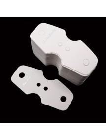 Etichete carton alb pliabile expunere bratari coliere 7x3cm 100buc